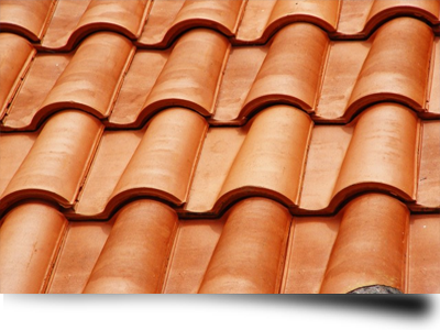 An example of some clay roof tiles