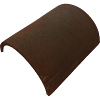 Half Round Ridge (300mm) Clay Tile Fitting - medium