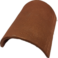Half Round Ridge (300mm) Clay Tile Fitting - red