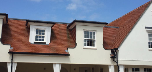 Clayhall red roof tiles in chichester