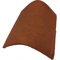 Hogs back ridge 300 mm clay tile fitting red