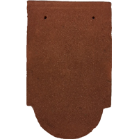 Ornamental club clay tile fitting red