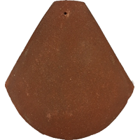 Universal bonnet hip clay tile fitting red